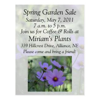 Garden Sale Invitation Post Cards