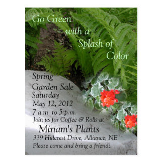 Garden Sale Invitation Postcard