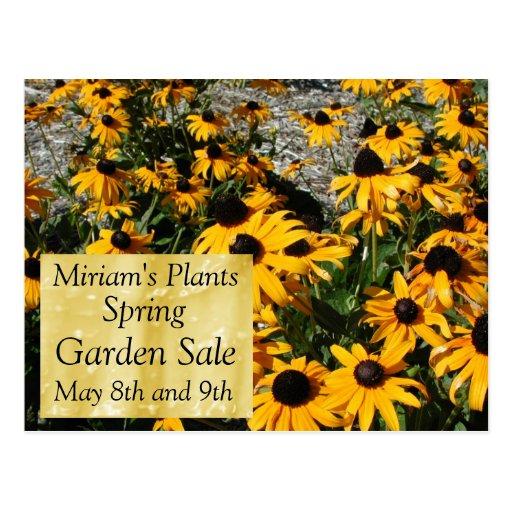 Garden Sale Post Card