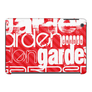 Garden; Scarlet Red Stripes iPad Mini Covers