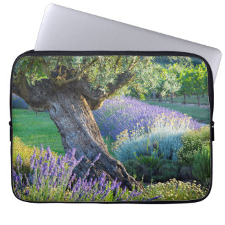 Garden scenic with flowers, France Laptop Sleeve