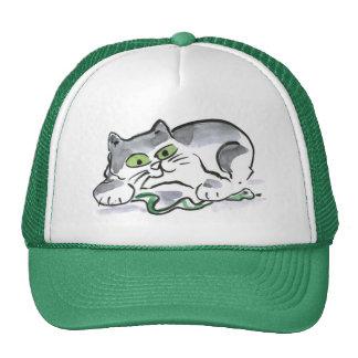 Garden Snake and the Curious Kitten Mesh Hats