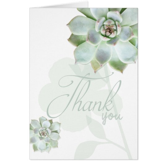 Garden Succulents Wedding Thank You Card