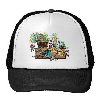 Garden tools design trucker hats