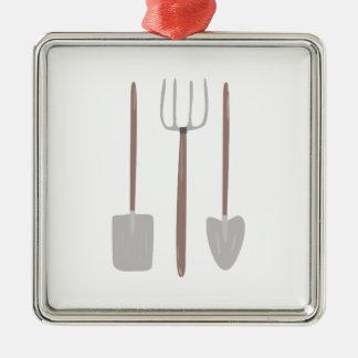 Garden Tools Metal Ornament