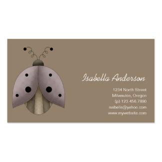Garden Treasures · Ladybug Pack Of Standard Business Cards