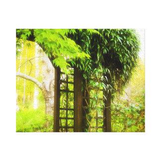 Garden Trellis Canvas Print