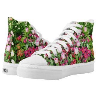 Garden tulips, Custom Zipz High Top Shoes Printed Shoes