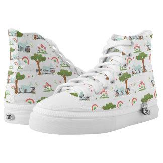 Garden Unicorn Shoes Printed Shoes