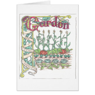Garden Vegetables Card