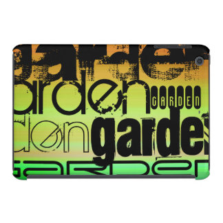 Garden; Vibrant Green, Orange, & Yellow iPad Mini Cover