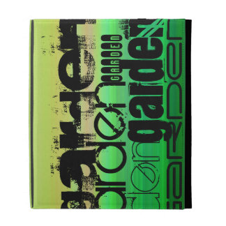 Garden; Vibrant Green, Orange, & Yellow iPad Folio Cover