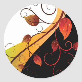 Garden Vine Round Sticker