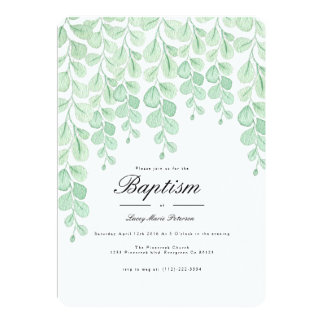 Garden Vine | Watercolor Baptism Invite
