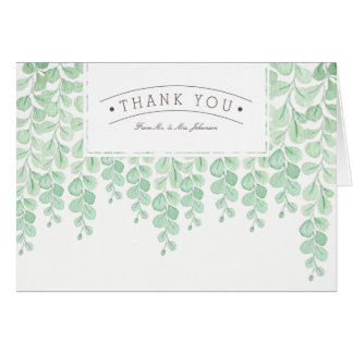 Garden Vine Watercolor | Thank You Card