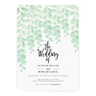 Garden Vine | Watercolor Wedding Invite