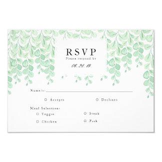 Garden Vines   Watercolor RSVP Card