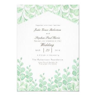 Garden Vines | Watercolor Wedding Invitation