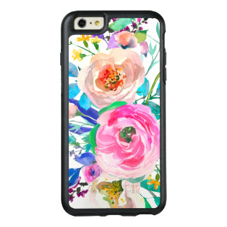 Garden Watercolor Colorful Flowers OtterBox iPhone 6/6s Plus Case