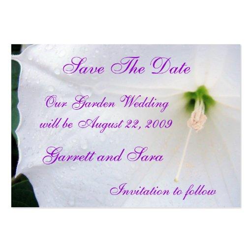 Garden Wedding Business Card Template