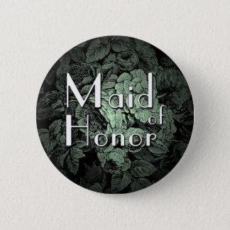 Garden Wedding Buton: Maid of Honor 6 Cm Round Badge