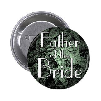 Garden Wedding Button: Father of the Bride 6 Cm Round Badge