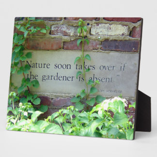 Garden Weeding Wisdom at Inniswood Park Plaque