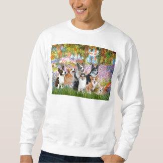 Garden - Welsh Corgies (seven) Sweatshirt