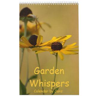 Garden Whispers Wall Calendar by Janz