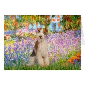 Garden -Wire Fox Terrier 3 Greeting Card