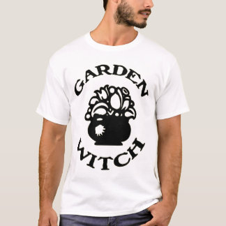 Garden Witch Cauldron with Flowers T-Shirt