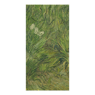 Garden with Butterflies by Vincent Van Gogh Customized Photo Card