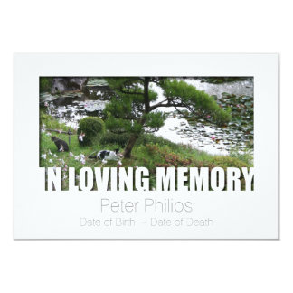 Garden with Cats In Loving Memory 8 Template 9 Cm X 13 Cm Invitation Card