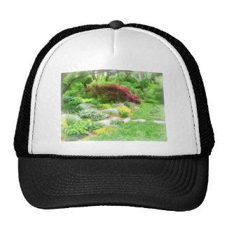Garden With Japanese Maple Trucker Hat