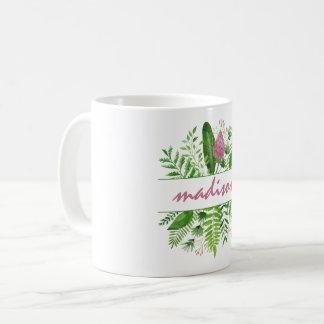 Garden Woods Botanical Typography Coffee Mug