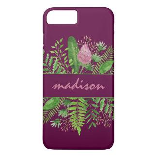 Garden Woods Botanical Typography iPhone 8 Plus/7 Plus Case