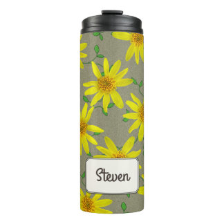 Garden Yellow Wildflower Botanical any Name Thermal Tumbler