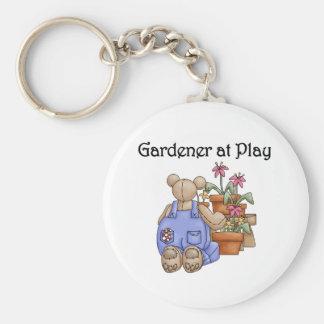 Gardener at Play Basic Round Button Key Ring