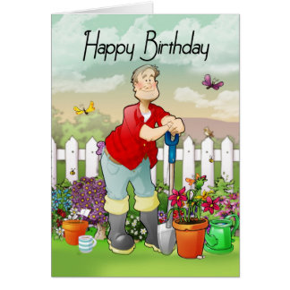 Gardeners birthday cards invitations photocards more for Decoration 50 ans homme