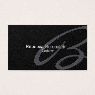 Gardener Business Card Fancy Monogram