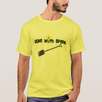 "Gardener Gifts ""Runs With Spade""--Adorable! T-Shirt"