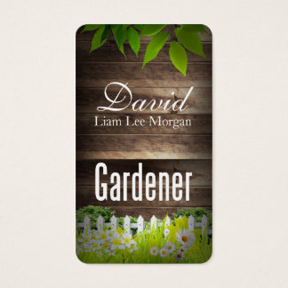 Gardener /  Landscaping / Lawn Services Business Card