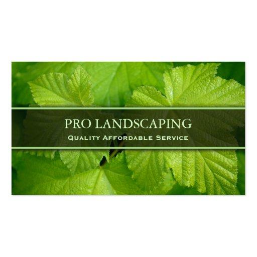 Gardener / Landscaping Leaf, Photo Business Card