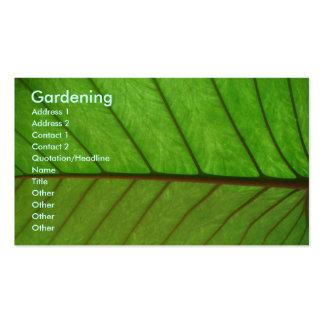 Gardener Pack Of Standard Business Cards