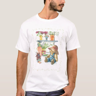 Gardener Teddy bear adult TShirt