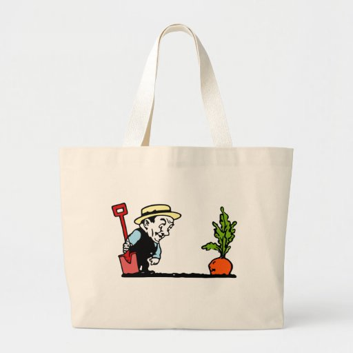 Gardener with Carrot Canvas Bags