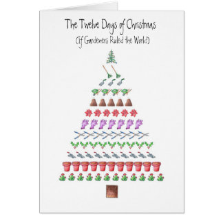 Gardener's 12 Days of Christmas Card