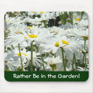 Gardeners gifts Rather Be Gardening mousepad Daisy