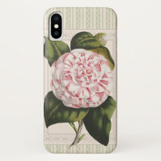 Gardener's Joy Vintage Pink and White Camellia iPhone X Case