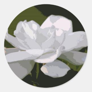 Gardenia Elegance Classic Round Sticker